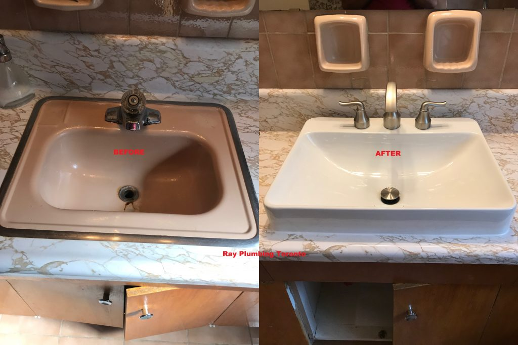 Sink and Faucet Replacement Ray Plumbing